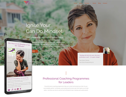 Business coach website design
