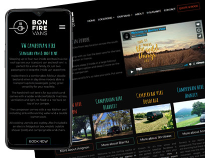 Website design for van and campervan hire in France