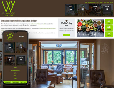 Hotel and restaurant in the Cotswolds, website design
