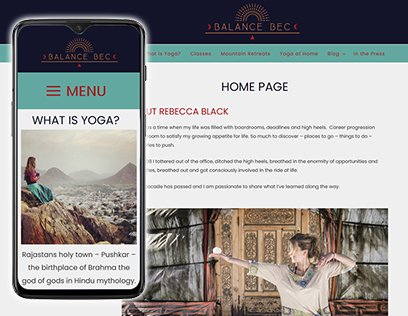 Yoag website design
