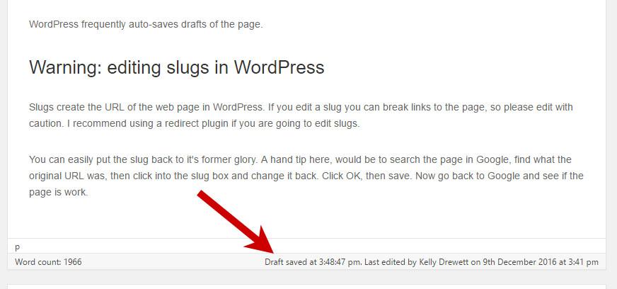 Latest draft saved in WordPress