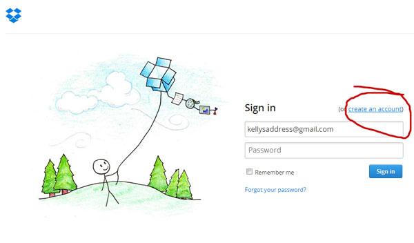 Create an Account on Dropbox