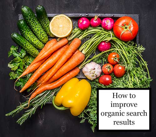 How to improve organic search results