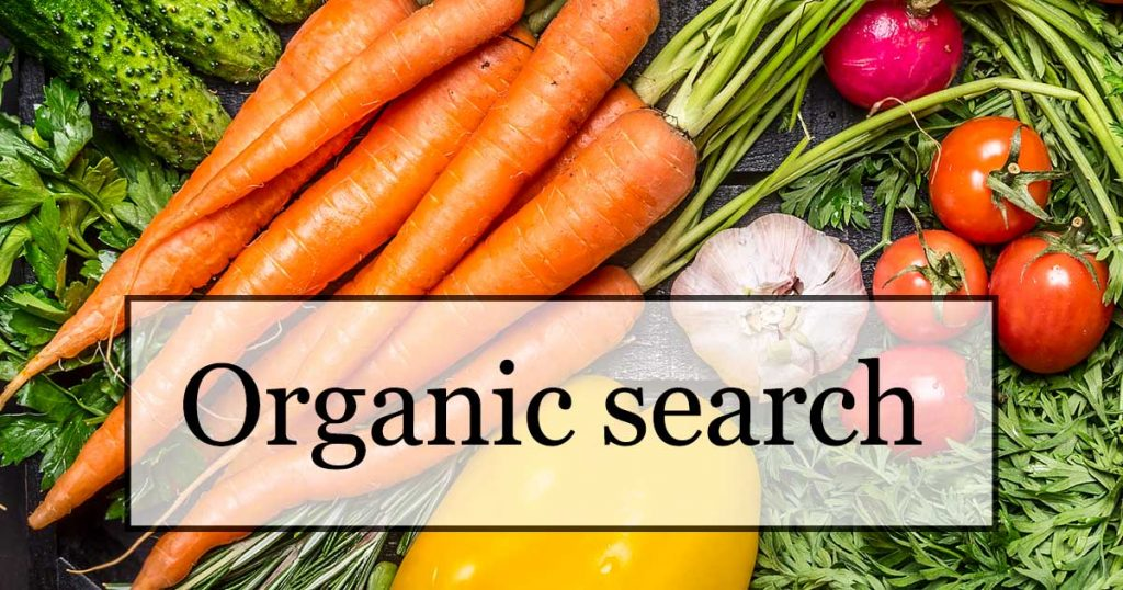 Organic search definition