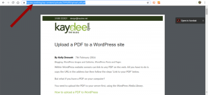 Find the URL and link to a PDF within WordPress