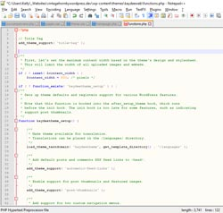 Custom web design code in PHP, HTML and CSS