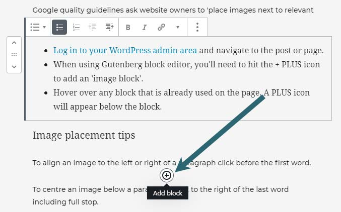 Add images to WordPress in the block editor (Gutenberg)