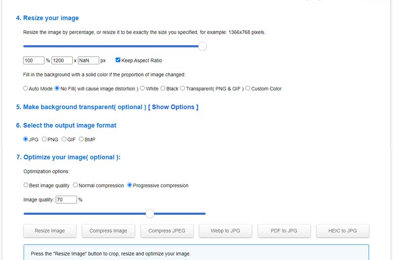 How to resize and image - online resize, crop and compression tool