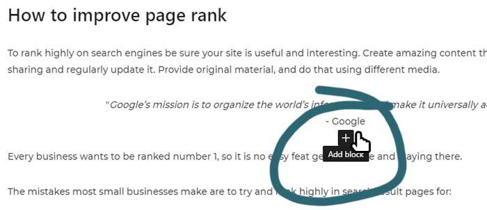 Add a block to a WordPress page